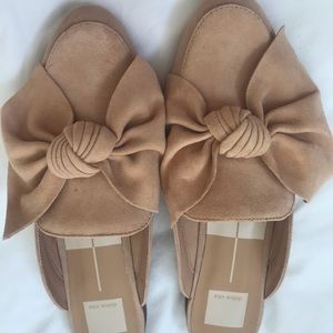 Dolce Vida slip on suede shoe with bow